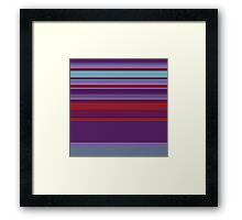 Bar-Code Pattern in Red, Purple, and Teal Framed Print