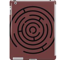 Labyrinth Crop Circle black iPad Case/Skin