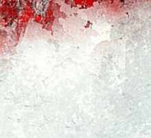 Red Landscape Impressions Sticker
