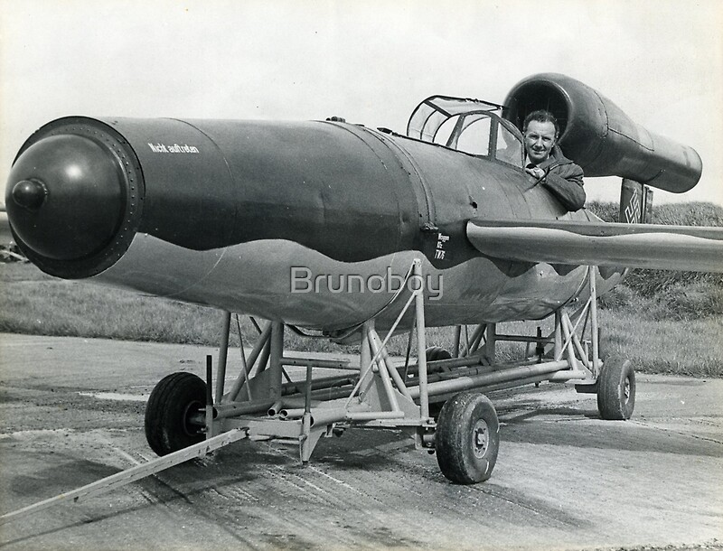 Flying Bomb (V1) (Kent & Sussex Courier Photograph)