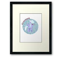 Cloudchaser Glitter Framed Print