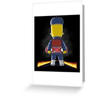 Bart to the Future Greeting Card