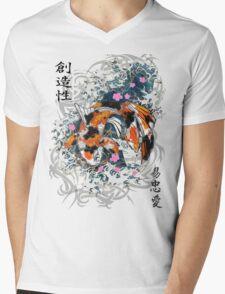 Thrashing Koi Mens V-Neck T-Shirt