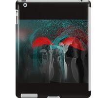 Red Umbrellas Impressionism iPad Case/Skin