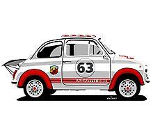 Racing Fiat Abarth 595 Photographic Print