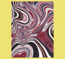abstract UK fashion red white blue marble swirls Kids Clothes