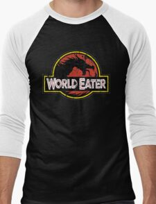 World-Eater Beware! Men's Baseball ¾ T-Shirt