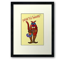 Puss in boots Framed Print