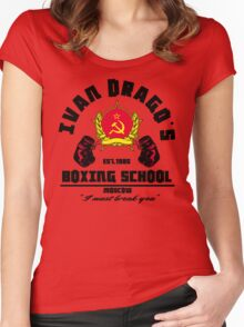 I. Drago's boxing school Women's Fitted Scoop T-Shirt
