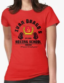 I. Drago's boxing school Womens Fitted T-Shirt