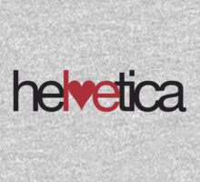 Love Helvetica One Piece - Long Sleeve