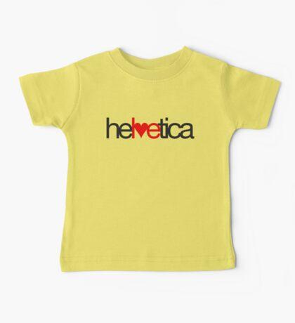 Love Helvetica Baby Tee
