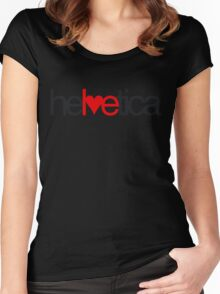 Love Helvetica Women's Fitted Scoop T-Shirt