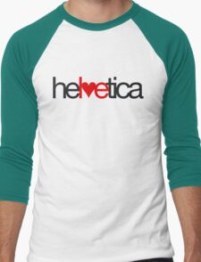 Love Helvetica Men's Baseball ¾ T-Shirt