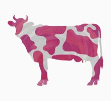 Cow Hot Pink and White Print Kids Clothes