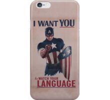 Age Of Ultron - Watch Your Language! iPhone Case/Skin