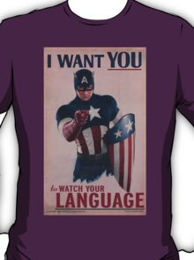 Age Of Ultron - Watch Your Language! T-Shirt