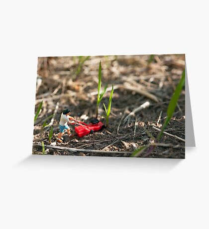 Grass Cutter Greeting Card