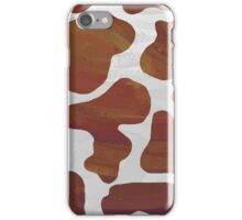 Cow Brown and White Print iPhone Case/Skin