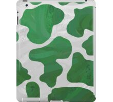 Cow Green and White Print iPad Case/Skin