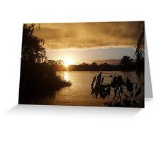 Sunrise at Mannum. Greeting Card