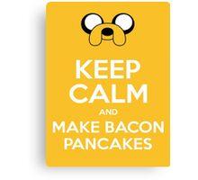 Make Bacon Pancakes Sticker Canvas Print
