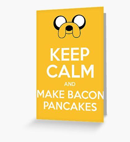 Make Bacon Pancakes Sticker Greeting Card