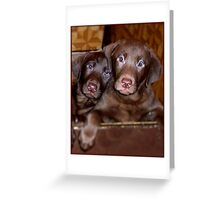 """""""Puppy Love"""" Greeting Card"""