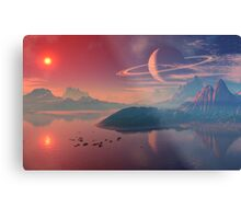 Worlds of Alienvisitor Metal Print