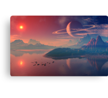 Worlds of Alienvisitor Canvas Print