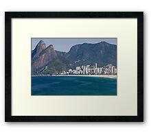 Ipanema Beach, Rio De Janeiro, Brasil Framed Print