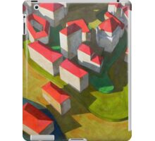 virtual model with red houses iPad Case/Skin