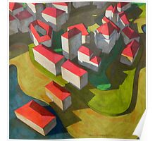 virtual model with red houses Poster