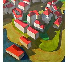 virtual model with red houses Photographic Print