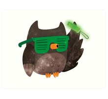 Just Don't Give A Hoot! Art Print