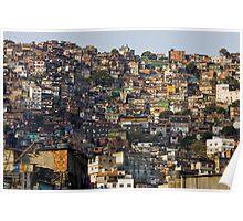 Rocinha Favela, Rio De Janeiro, Brasil Poster