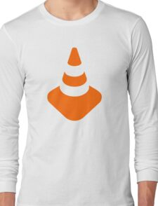 Traffic cone safety pylon Whitch hat marker Long Sleeve T-Shirt