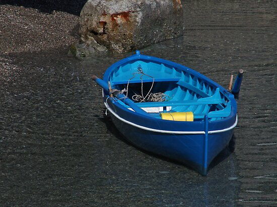 Amalfi Blue Boat by longaray2