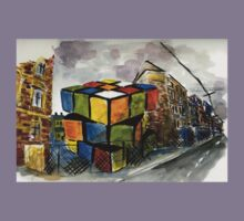 Rubix Cube in a Vacant Lot Kids Clothes
