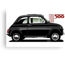 Classic Fiat 500F black Canvas Print