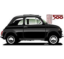 Classic Fiat 500F black Photographic Print