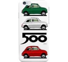 Classic Fiat 500F black iPhone Case/Skin