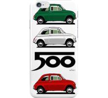 Classic Fiat 500F beige iPhone Case/Skin