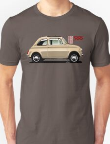 Classic Fiat 500F beige T-Shirt
