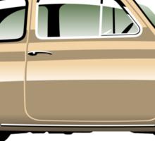 Classic Fiat 500F beige Sticker