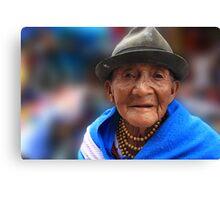 Elder Quechua Canvas Print