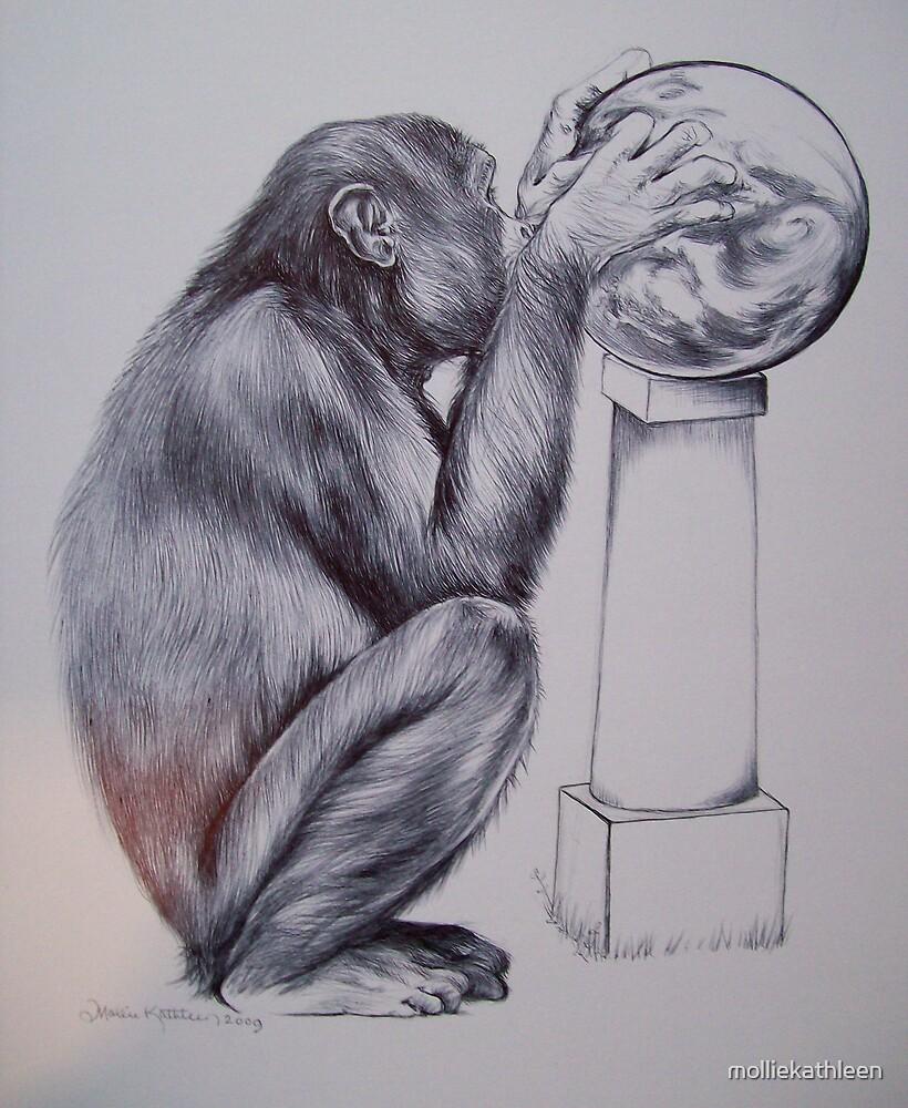 Chimpanzee by molliekathleen