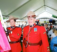 Royal Canadian Mounted Police at Eurofest 2009 by Carol Clifford