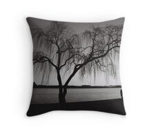 Sunset stroll at dusk, Lake Burley Griffin, Canberra, ACT, Australia Throw Pillow