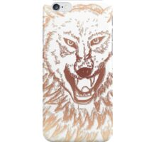 Abstract Wolf Sketch 3 iPhone Case/Skin